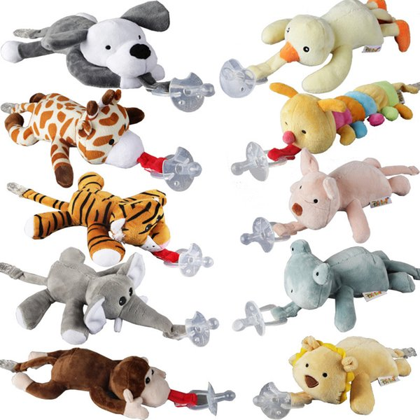 Baby Nipple Infant Silicone Pacifier with Cartoon Animal Plush Toy Gift  Code
