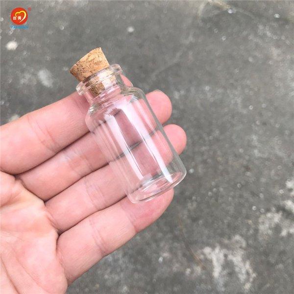 15ml 26x52x12.5mm Transparente Garrafa de vidro Rolhas Crafts vazios Decoração Garrafas Alimentos Saffron pílula Jars Frascos Frascos 100pcs