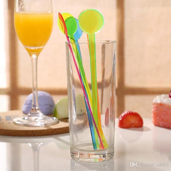 Squisita plastica Stirring Rod Bend Love Heart Shape monouso Swizzle Stick per strumenti Bar Easy Carry Small 0 3cy B