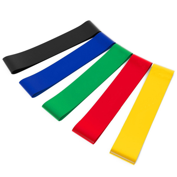 Elastic Fitness Yoga Loop Band Natural Latex Tension Resistance Band Pull Rope Crossfit Body Ankle Leg Exercise Training Rubber