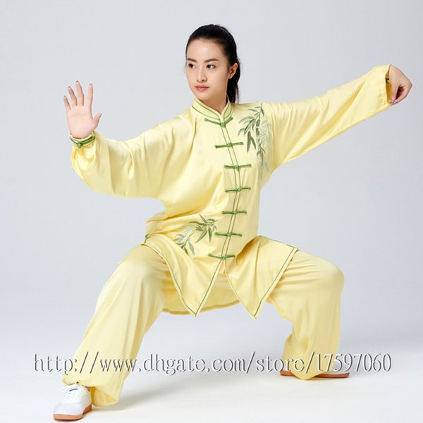best selling Chinese Tai chi clothes Kungfu uniform Taijiquan sword garment Qigong outfit Bamboo Embroidery for women men girl boy children adults kids