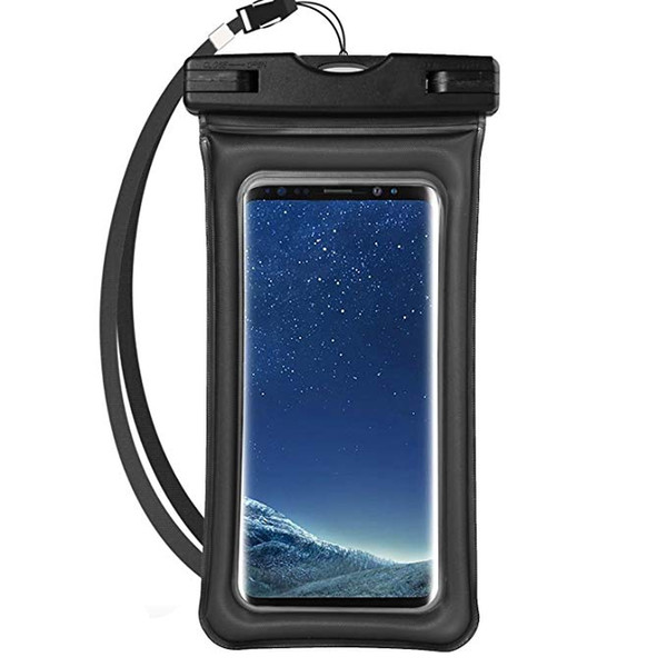Universal Airbag Cellphone Waterproof Dry Bag Underwater Phone Pouch with Lanyard and Touch Screen Function for Samsung Iphone 195mm*105mm