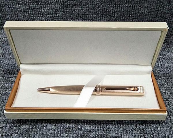 Luxus-Kugelschreiber mit niedlichen Rose Gold-Clip Elegante Schreibwaren Schule Bürobedarf einzigartige Metall schreiben AG Kugelschreiber für Lady Geschenk