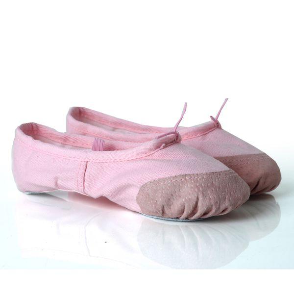 Ballet infantil y juvenil Zapatillas de baile Pointe Zapatillas de lona Zapatillas de bailarina Niñas Ballet Dance Gymnastics Mujeres