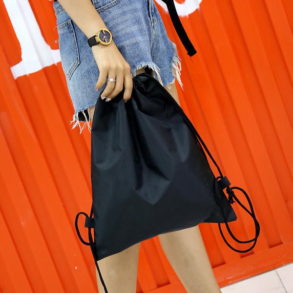 Borse semplici del panno di Oxford dello zaino per le borse di spalla delle borse di colore solido delle borse di svago delle donne con il coulisse per le ragazze
