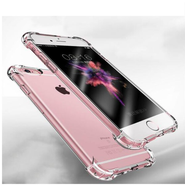 Super Shockproof Clear Soft Case for iPhone 6 s 6S 7 8 Plus 6Plus 6SPlus 7Plus 8Plus Silicon Luxury Cell Phone Back Cover