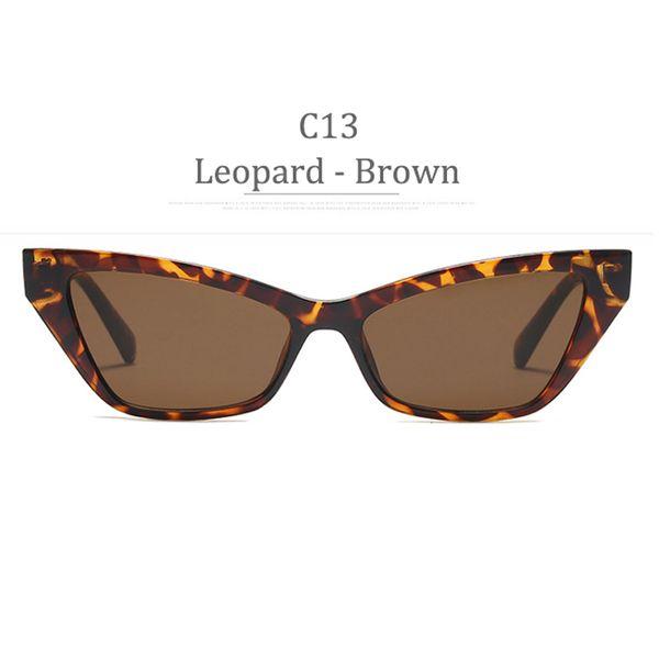 C13 Leopard Frame Obiettivo marrone