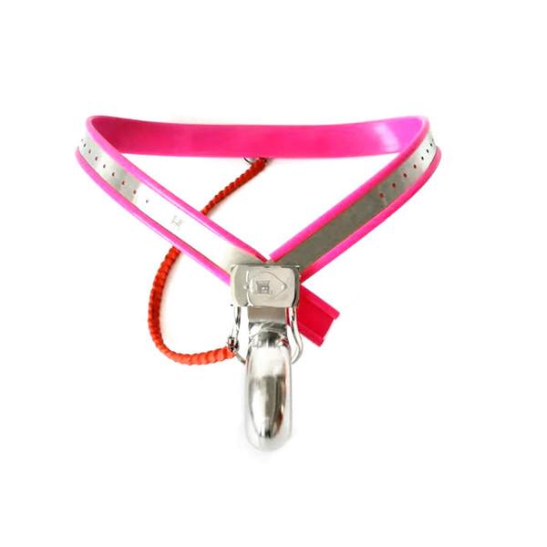 Nuovo maschio regolabile Cintura di castità modello-Y in acciaio inossidabile chiuso completamente pene Cage Cage Bondage adulto Bdsm Sex Toy 4 colori 210