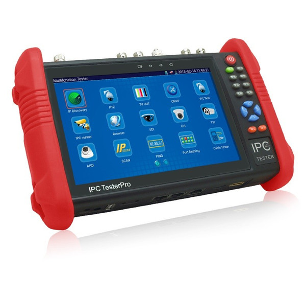 New 7 Inch Five In One CCTV Tester Monitor IP HD AHD CVI TVI Analog Cameras Testing 1080P WIFI Onvif PTZ Control POE