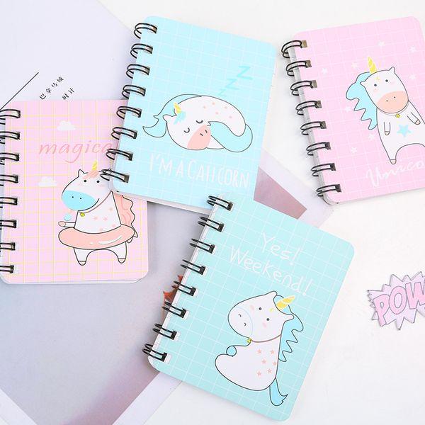 Cute Kawaii Cartoon Unicorn Cat Spiral Mini NotAnimal Diary Book Portable Notepad Stationery Office School Supplies