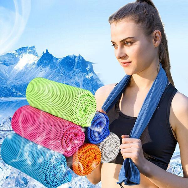 Kinder Cooling SportsYoga Übung Schnelle Handtuch Schwimmen Reise Mikrofaser Stoff Quick-Dry Eistücher