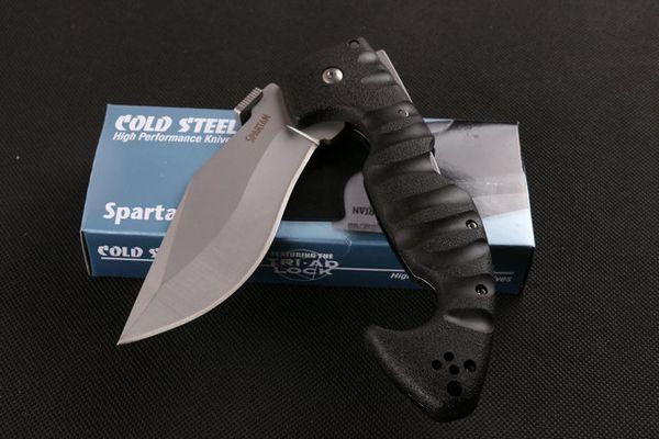 KALTES STAHL dogleg Hundebein spartanisches Messer ABS Titan faltendes kampierendes Überlebens-Messer Weihnachtsmesser-Geschenkmesser 1pcs freeshipping