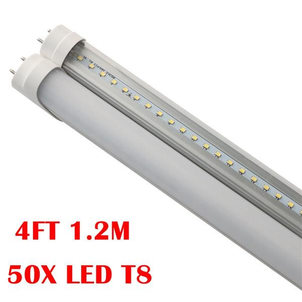 Umlight1688 50X 4ft 1200mm T8 Led Tube Light High Super Bright 18W 20W 24W Warm Cold White Led Fluorescent Bulbs AC110-240V CE ROHS