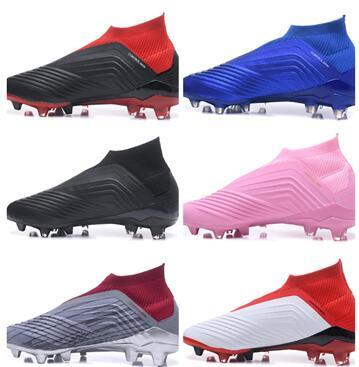 No laces Predator 18 Falcon No laces football training Sneakers,2018 new Waterproof FG shoelace studded cleated boots,studded cleated shoes