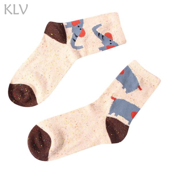 KLV 2018 NEW Winter Warm Cartoon Animal Wool Socks Christmas Xmas Gift Fashion #G