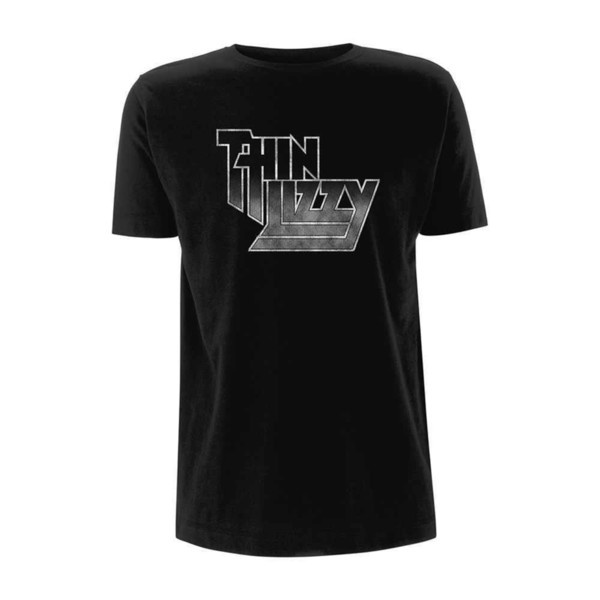 Official THIN LIZZY Logo Gradient Band T Shirt Mens Black Tee Todo el tamaño UK Seller