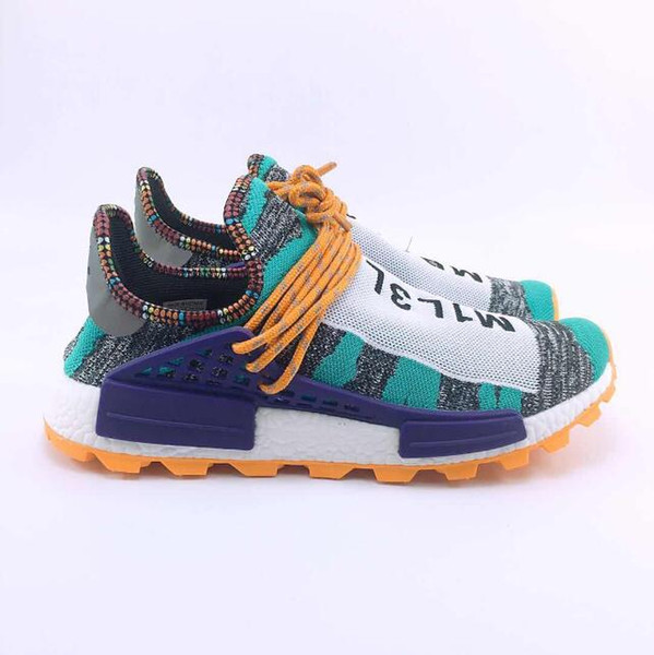 finest selection 980c1 8f715 Hot Pharrell Williams Solarhu Nmd Shoes Tennis Hu V2 Human Race Sports  Casual Shoes Holi Mc Nmd Hip Hop Running Hiking Sneakers Size 36 47 Womens  ...