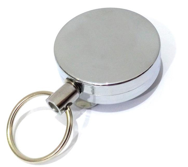 200pc Stainless steel Tool Belt Money Retractable Key Recoil Ring Pull Chain Clip Keychain key Chain
