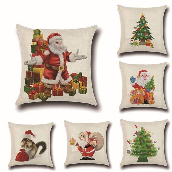 Hot Sale Christmas Pillow Cover Cheap Christmas Decorative Throw Pillow  Case Washable Linen Pillow Cover 18 X 18 Inch Sewing Pillow Cases Pillow  Case ...