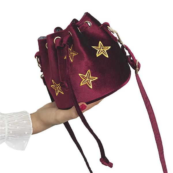 OCARDIAN messenger bag women 2018 hot sale ladies Five-pointed star pattern handbag velour shoulder bag women Mar 27