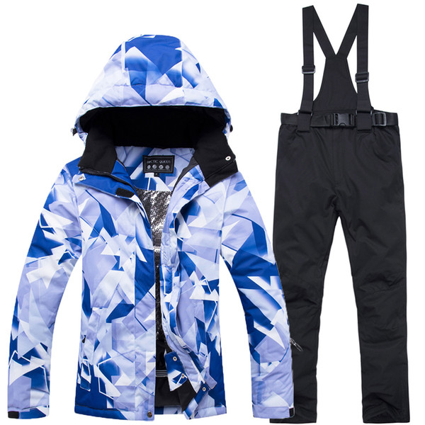 waterproof skiing and snowboarding suit women windproof female snowboard jacket pant -30 degrees snow suit Winter ski clothing
