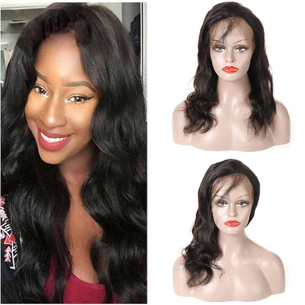 Body Wave Brazilian Virgin Full Lace Human Hair Wigs 150 Density With Baby Hair Pre-plucked Hairline Lace Front Wigs For Black Women