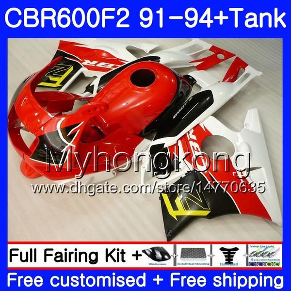 Body For HONDA CBR 600F2 FS CBR600RR CBR600 F2 91 92 93 94 1MY.15 CBR600FS CBR 600 F2 red white CBR600F2 1991 1992 1993 1994 Fairing kit