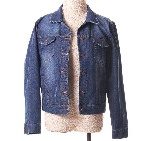 e80f7d381437 Outerwear Women Denim Jacket Female S-4XL Vintage Cropped Short Denim Coat  Long-Sleeve Jeans Coat Cardigan Light Deep Blue