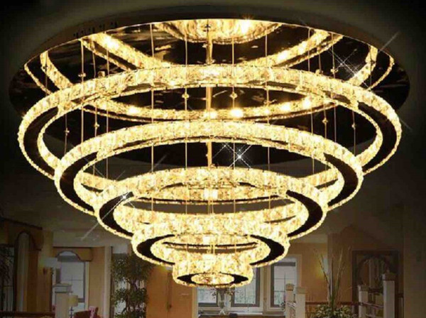 Großhandel Moderne Einfache Kristall Deckenleuchte Edelstahl Halle  Schlafzimmer Lampe Schlafzimmer Lampe Led Kreis Esszimmer Licht Dekoration  Von ...