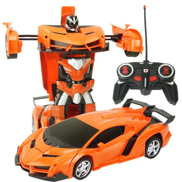 Dönüşüm Robotlar RC Araba Spor Araba Modelleri Uzaktan Kumanda Deformasyon Araba RC Robotlar Çocuk Oyuncakları çocuk Doğum Günü Hediyel ...