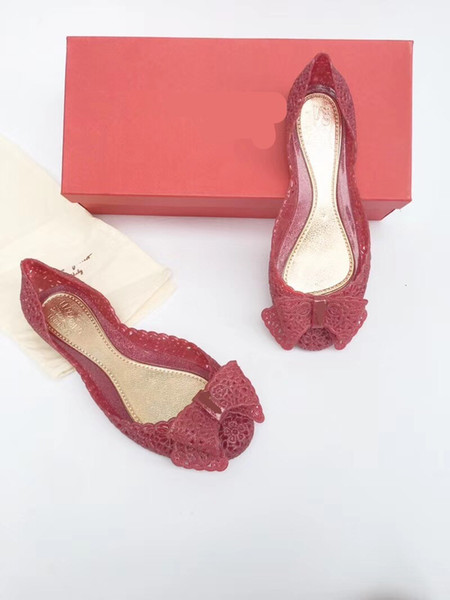 Free shipping-New style jelly shoes imported environmental protection high-elastic materials fashion 3 colors to match the original box