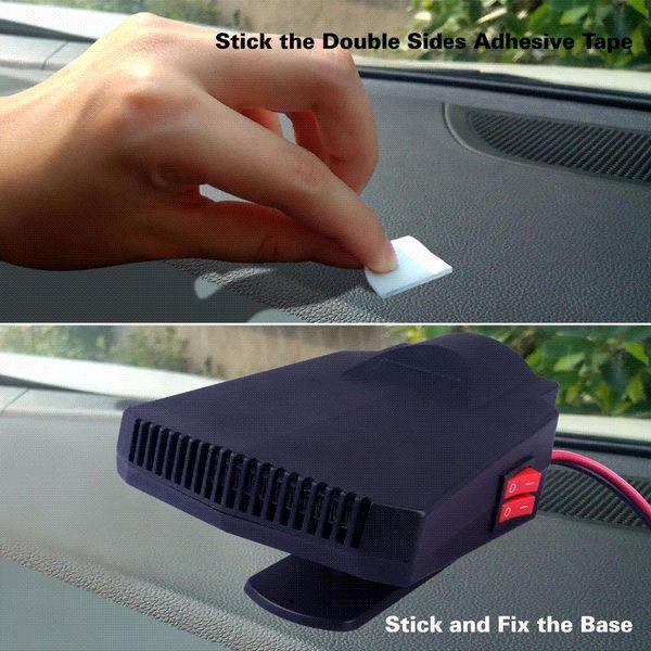 12v Car Heater Fan Windscreen Auto Demister 200W Universal Car Vehicle Electric Cold Warming Fan Heated Defroster on Dashboard