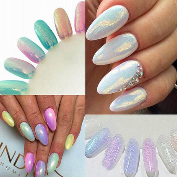 10g/bag BORN PRETTY Shinning Mermaid Nail Glitter Powder Gorgeous Nail Art Pigment Chrome Glitters 8 Colors For Decoration
