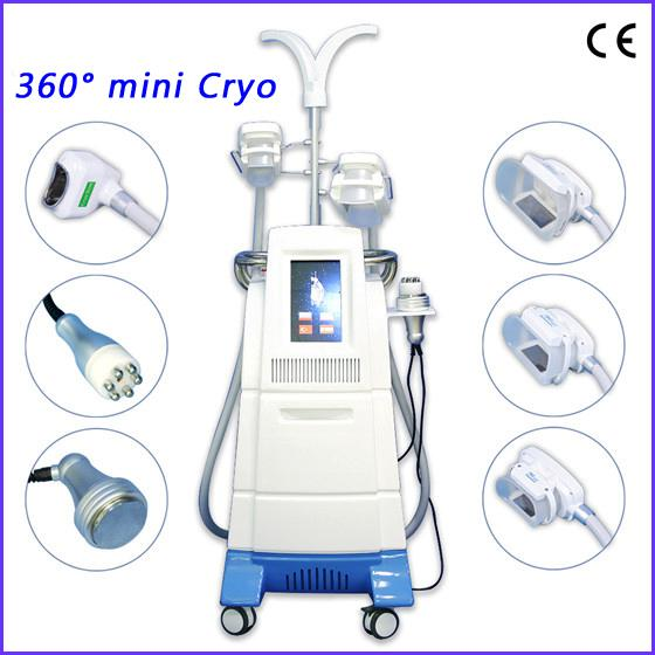 New design 360 degree mini fat freeze cryolipolysis fat freezing machine Cryolipolysis Slimming Machine 4 cryo handles