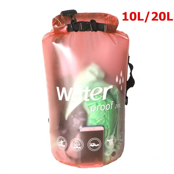 10L 20L Translucent waterproof bag dry bag Swimming for Canoe Kayak Rafting Sports Outdoor Camping River Trekking fishing
