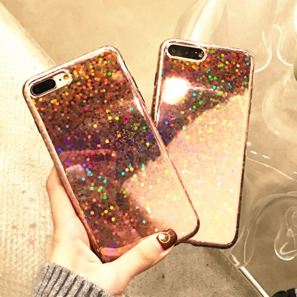 official photos 66496 55e4a For Iphone 7 Case Laser Bright Glitter Tpu For Iphone 8 Plus Case Protector  Cell Phone Cases Wholesale Custom Cell Phone Cases From Wangza0501, $2.85   ...