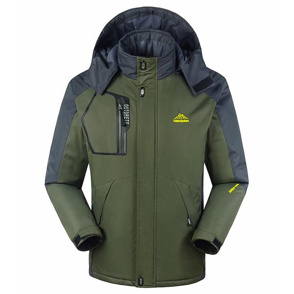 2018 Winter Jacket Parka Coats Men Plus Thick Velvet Warm waterproof windbreaker jackets chaquetas hombre Raincoat 6XL 7XL 8XL
