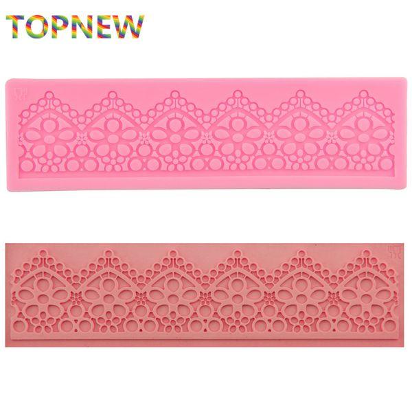 Sugar Lace Mat Easy to Use Sugarcraft, Cake Decorating,Silcone Molds Fondant,Gumpaste,Torta,Cake lace 17.7X5CM 2317