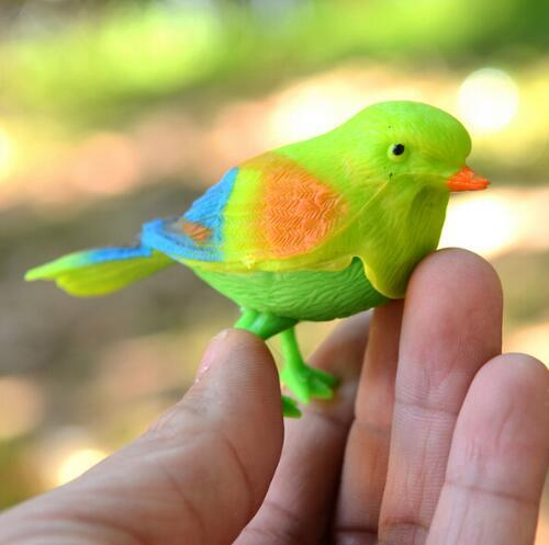 Plastic Sound Voice Control Activate Chirping Singing Bird Funny Toy Birthday Gift Cute Kawaii Baby Kids Animal Educational Toy