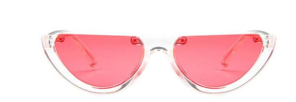 All'ingrosso-New Fashion 2018 Mezza montatura occhiali da sole Donne eleganti signore occhiali da sole per donna per la spedizione gratuita