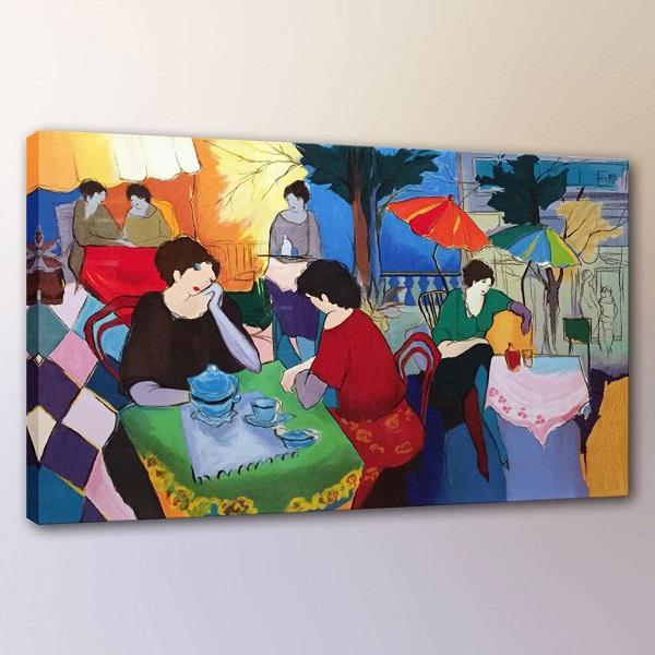 Itzchak Tarkay Woman Lady Cafe Portraits Art,Handpainted /HD Print Wall Art Oil Painting On Canvas.Multi Custom Sizes /Frame It98