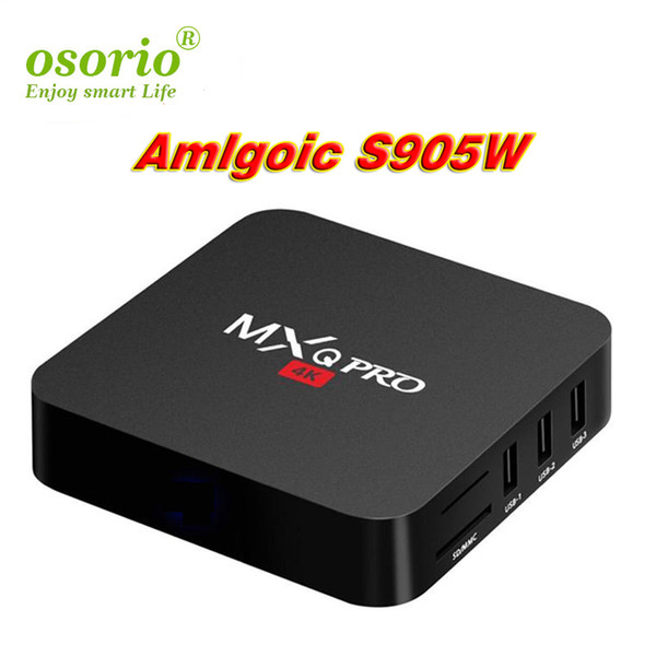 MXQ Pro 4K Android 7.1 TV Box 1GB 8GB Amlogic S905W Quad Core Streaming Media Player Internet Boxes better S905W TX3 x96 mini IPTV BOX