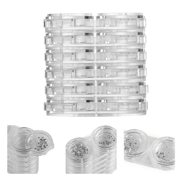 12 Grid/Set Nail Art Empty Storage Removable Clear Plastic Box Nail Art Container Bead Rhinestone Jewelry Display Showing Box