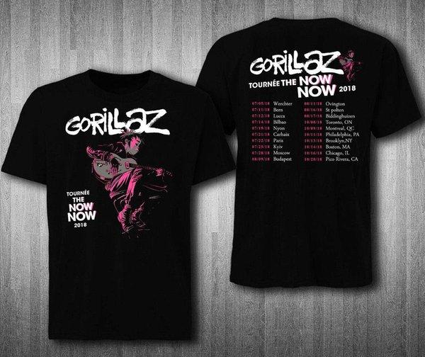 Gorillaz tourne maintenant le Tshirt Tour 2018 T-Shirt Hommes Femmes Nouveau Mode Hommes T-shirt à manches courtes T-shirts Coton