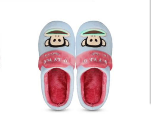 2017popular Pa ul Fr ank home simple comfortable, thick bottomed fashionable plush warm cotton slippers