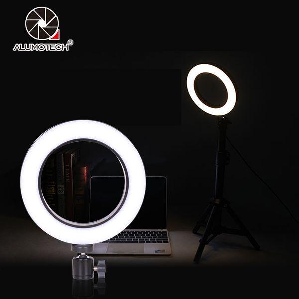 64 Perlen LED Mini Ring Licht Mit Kugelkopf Set Abnehmbare Dimmen für Telefon Live Show / Schönheit Make-Up Fotografie Video Studio