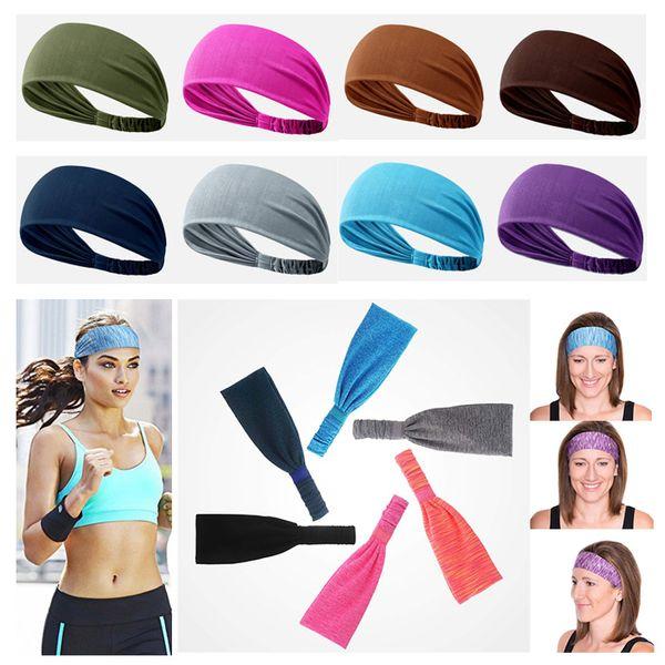 Headband for Men & Women, Versatile Solid Headband Hair Wrap Multi-style Casual Sports Headwear, Stretchy Breathable Moisture Wicking Micro