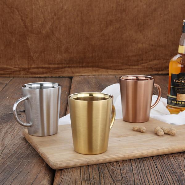 Paslanmaz Çelik Kahve ve Bira Kupa Şarap Bardağı Nordic Tarzı Soğuk Bira / Kahve Kupa Festivali Gümüş Renk Ücretsiz Kargo