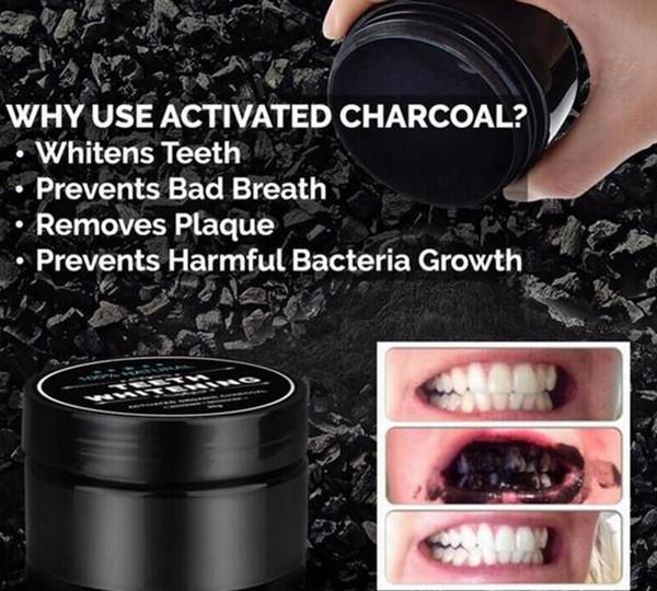 mascaNatural dents poudre dentifrice en bambou soins buccaux hygiène hygiène nettoyage coquille de noix de coco de charbon actif organique nourriture dent jaune tache