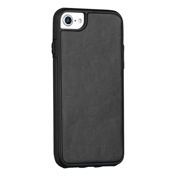 2018 Hot sale For iphone case Detachable Crazy horse oil wax pu leather phone case multi card slots wallet case